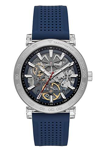 Michael Kors Herren Analog Automatik Uhr mit Silikon Armband MK9040