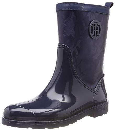 Tommy Hilfiger Shiny Camo Rain Boot, Botas de Agua para Mujer