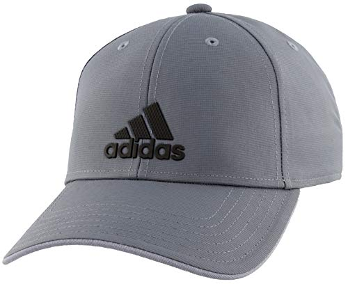 adidas Decision Structured Adjustable Cap, Grey/Black, One Size