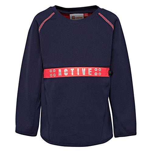 Lego Wear Duplo Girl Summer 702 Sweat-Shirt, Bleu (Dark Navy 590), 4 Ans Bébé Fille