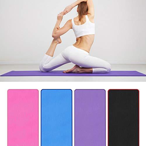 Heqianqian Esterilla de yoga de 10 mm de grosor, antideslizante, esterilla de yoga respetuosa con el medio ambiente, esterilla de ejercicio (tamaño: 183 x 61 x 1 cm; color: rosa)