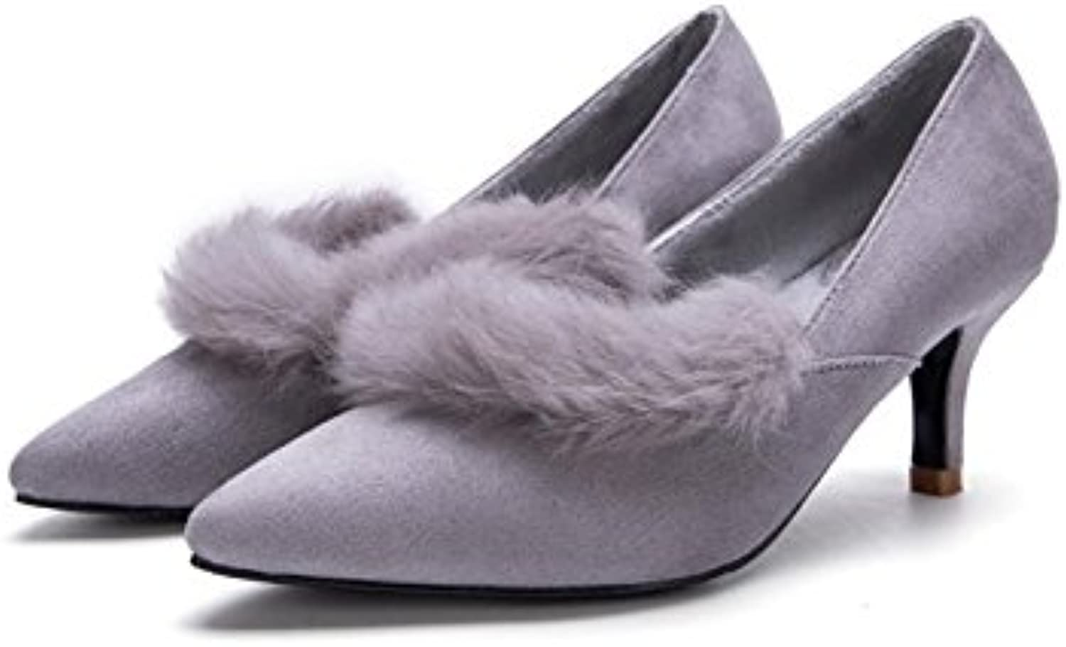 shoesmaker's heart Shallow shoes Warm shoes and Suede shoes Women's shoes Autumn and Winter Shallow Women