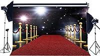NEWHasdropハリウッドの背景10x7FTビニールカクテルの背景ボケステージライトキラキラドットワインパーティー赤いカーペット写真会議のレセプションの背景結婚式の写真スタジオの小道具HMP596