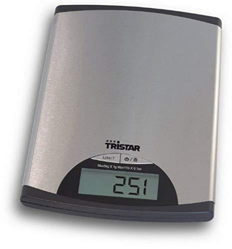 Tristar KW-2435 - Báscula de cocina con panel de control digital, plateado