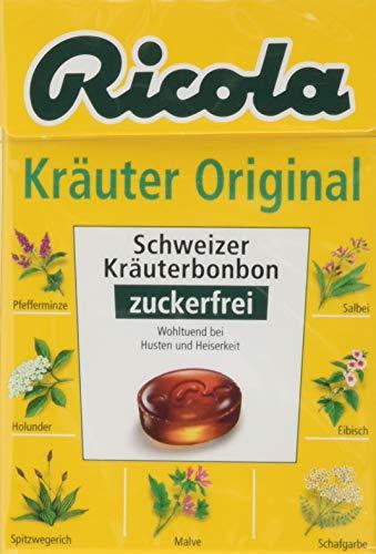 Ricola Kräuter Original ohne Zucker, 5er Pack (5 x 50 g)