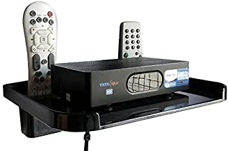 SVM Products Set Top Box Stand With Remote Holder Wall Mount Black