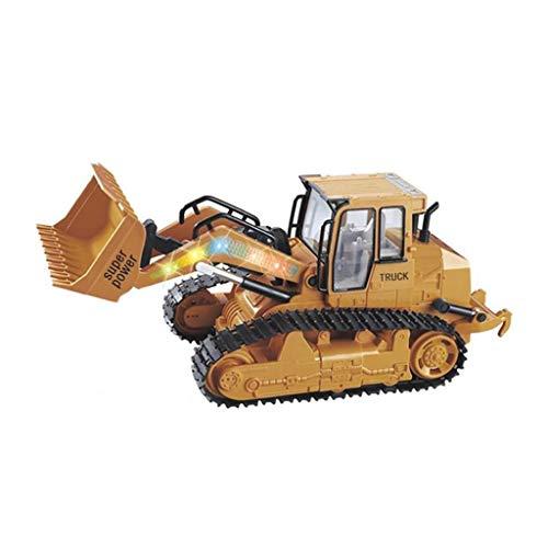 Jamicy® Ferngesteuertes Auto, 1:12 RC Excavator Shovel Remote Control Construction Bulldozer Truck Toy + Light