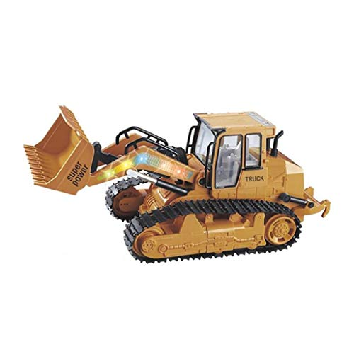 Jamicy® Ferngesteuertes Auto, 1:12 RC Excavator Shovel Remote Control Construction Bulldozer Truck Toy + Light