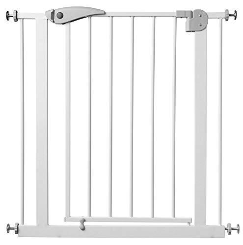 Star Ibaby - Barrera de Seguridad de niños para puertas y pasillos - Color blanco - Máxima Polivalencia de 65 a 95 cm - Incluye 2 Extensiones de 10 cm - Incluye Kit para Barandilla