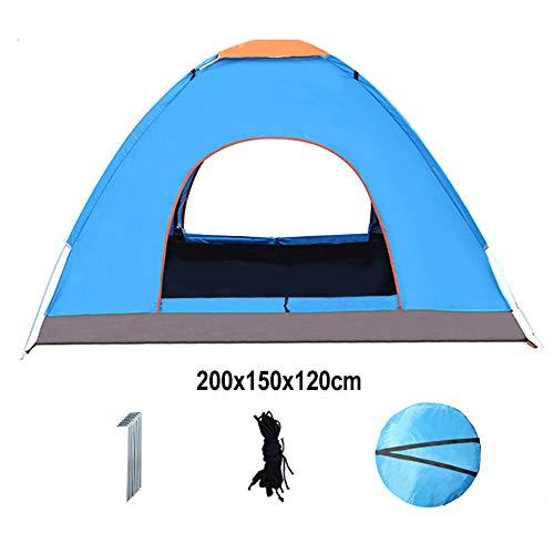 Tents de Camping Pop-up, 2 Personnes de Plage Portable Automatique Petit, UV 50+, Abris Soleil avec Sac de Transport pour Pique-Nique, randonnée, pêche, extérieur