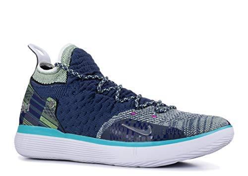 Nike Men's Zoom KD 11 Basketball Shoes (14, Blue Void/Black/Squadron Blue)