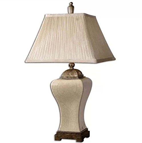 Tafellamp van keramiek, oude bureaulamp met stoffen kap, grote lichten voor de woonkamer