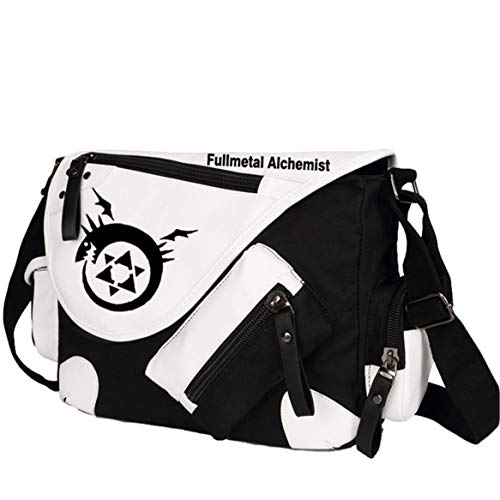GO2COSY Anime Messenger Bag Handtasche Crossbody Tote Bag Student Bag Schultertasche für Fullmetal Alchemist Cosplay