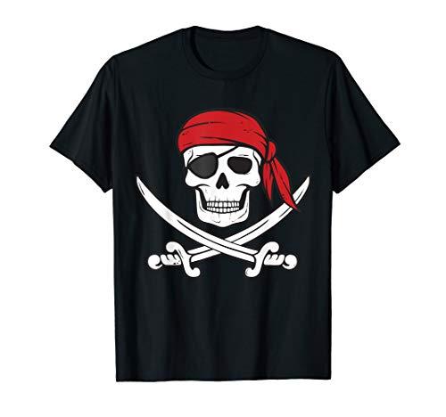 Piraten Shirt Kinder oder Erwachsene Schwerter und Totenkopf T-Shirt