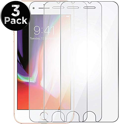 Aduro Screen Protector for Apple iPhone SE2/8/7/6/6s 4.7-inch (NOT Plus), Shatterguardz Tempered Glass Shatter Proof Film, 3 Pack