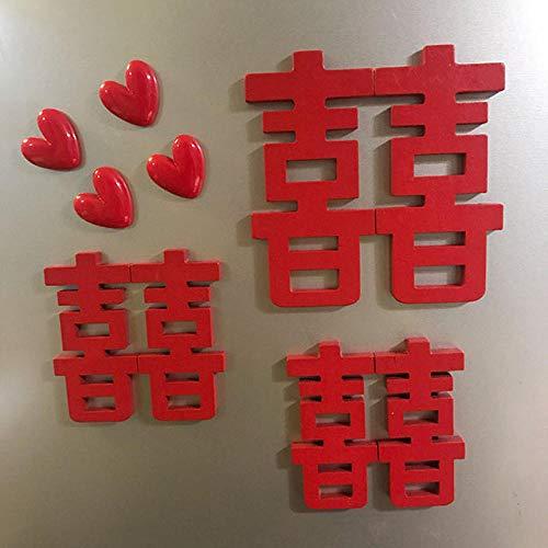 Qianqingkun Indeling aangepaste koelkast stickers, creatieve driedimensionale decoratieve romantische magnetische stickers, schattige cartoons