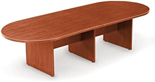 10' Racetrack Conference Table Dark Cherry
