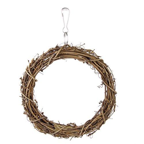 F Fityle Rattan Ring zum Aufhängen für Wellensittich, Nymphensittich, Papagei, Vogel - für Vogelkäfig oder Voliere