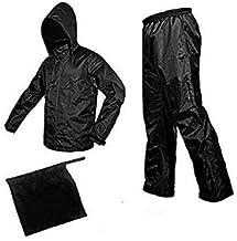 CLASS ONE 100% Waterproof Free Size Rain Suit/Rain Coat/Rain Wear. (Suitable for Men&Women)(Black) Pack of 1