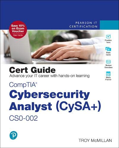 CompTIA Cybersecurity Analyst (CySA+) CS0-002 Cert Guide (Certification Guide)