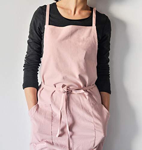 Schürze Baumwollschürze Mit Taschen Kochküche Schürzen Für Frauen Männer Restaurant Cafe Arbeitskleidung Smocks-2_99X99Cm