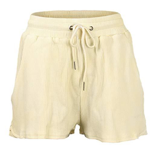 Señoras Casual Moda Correr Entrenamiento Pantalones Cortos Deportivos Cordón Cintura elástica Cómodo elástico Control de la Barriga Pantalones Cortos de Sudor Medium
