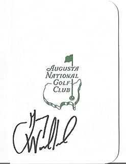 Gary Woodland Pga Golf Star Signed Autograph Masters Scorecard Coa Authentic - Autographed Golf Scorecards