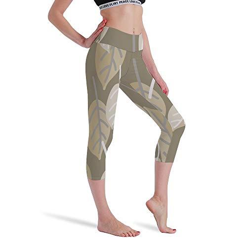 DKISEE Vrouwen Hoge Taille Zeven Punten Yoga Broek Ontwerp Blad Gedrukt Sportbroek Leggings Hardlopen Gym Sweatpants voor Vrouwen