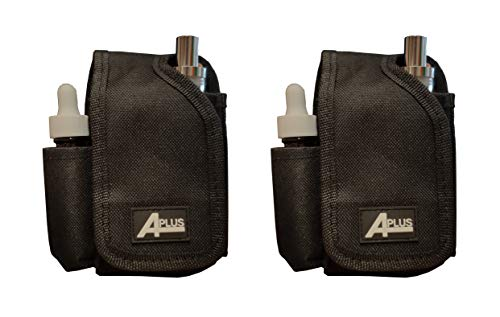 2 Pcs of Nylon Canvas Travel Carrying Case Vapor Pouch Storage Organizer Bag W/Belt Holster for Vape Mod (No Devices Included)