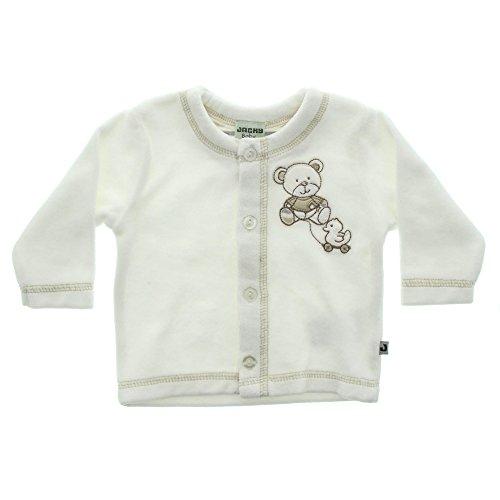 Jacky Unisex Jacke mit Knöpfen, Niedliches Bär-Motiv, Größe: 44, Alter: ab der Geburt, Off-White, 297100