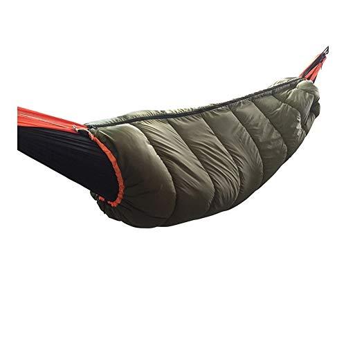 A-hyt Hamaca para Acampar al Aire Libre Bolso de Dormir Caliente de la Hamaca al Aire Libre Calentador de la Capa Inferior a Prueba de Viento y Fuerte Manta de Colcha para el Campamento de Aventuras