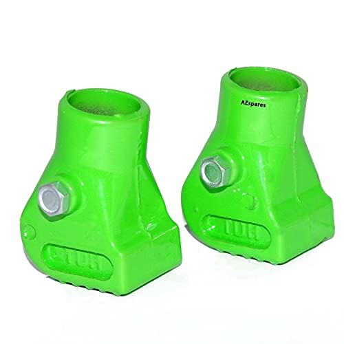 AEspares Nueva aleación del par verde del zapato de la bota del soporte del centro hizo Vespa PX T5 LML Scooter