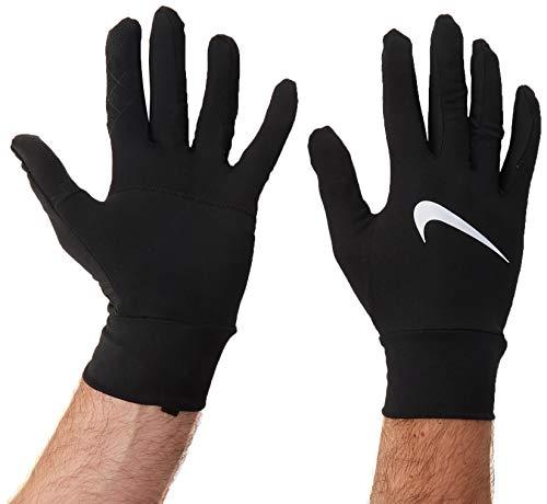 Nike Men's Dry Element Running Gloves (L, Black/Silver)