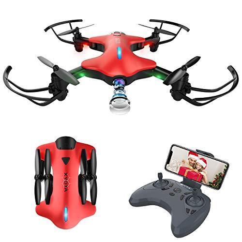 ATOYX Drone con Cámara 720P, Drone Plegable RC Quadcopter WiFi FPV en Tiempo Real, Modo sin Cabeza, Gravedad Sensor, Mejor Drone de Juguete para Niños/Principiantes, AT-146