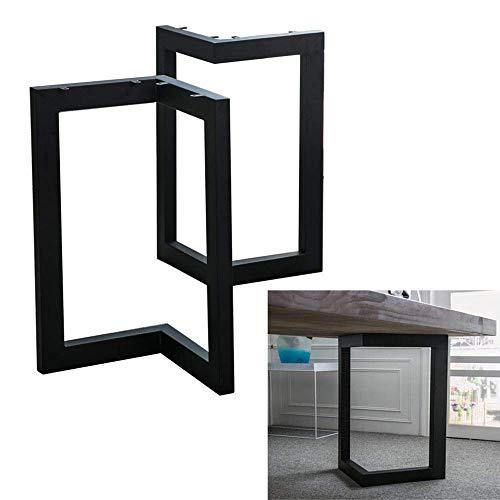 ZXL Metalen tafelpoten, V Vorm Eettafelpoten, Verstelbare keukentafelpoot, Bijzettafels, DIY meubelpoten, Industrieel Modern, zwart, Set van 2