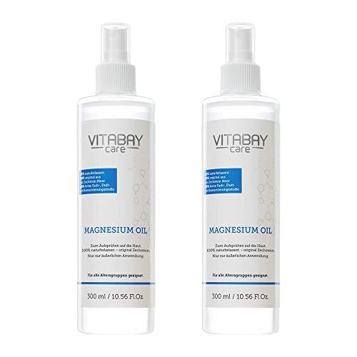 Aceite de magnesio original de Zechstein - Spray de cloruro de magnesio - amable con la piel - 600ml