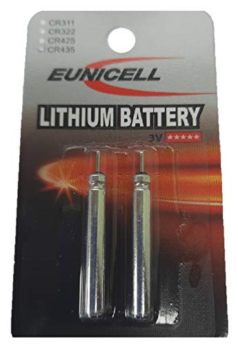 Eunicell 2 x CR435 Lithium Batterien lose für LED YAD Posen EINWEG