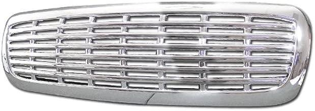HS Power Chrome Horizontal Billet Front Hood Bumper Grill Grille ABS 97-04 Dakota/Durango