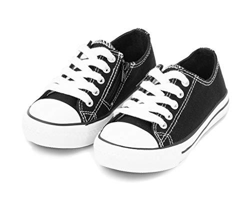 TEX - Zapatillas De Lona Unisex (Tallas 25 A 30), Negro Neutro, 27 EU