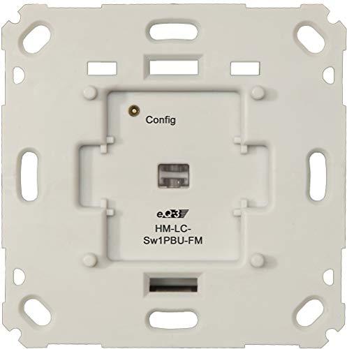 Homematic 3er-Set Funk-Schaltaktor für Markenschalter, 1fach Unterputzmontage HM-LC-Sw1PBU-FM