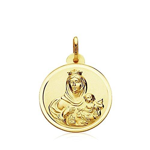 Medalla oro 9k Virgen del Carmen 20mm. [AB3283GR] - Personalizable - GRABACIÓN INCLUIDA EN EL PRECIO