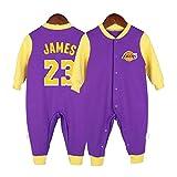 NBA Camiseta de baloncesto Aficionado a los deportes Baby Creepers Mamelucos Kobe Bean Bryant 24 Stephen Curry 30 James Harden 13 Jason Thompson 11 LeBron Raymone James 23 Altura del mono 59 cm-90 c
