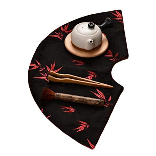 Nappe de thé Tapis à thé Broderie Dessous de Verre Table Runner Accessoires de thé (Style 06)