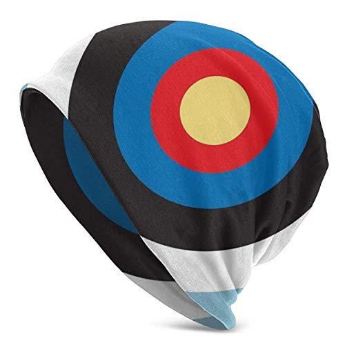Lawenp Bulls Eye Right On Target Roundel Archery Mod Hit On Blue Daily Beanie Slouchy Soft Headwear Gorro de Punto para Adultos Gorros Gorro de Invierno cálido Sombrero Negro para Hombres y Mujeres