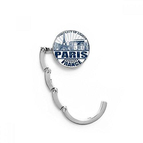 DIYthinker París Francia Bandera Eiffel Torre Arquitectura Tabla Gancho Plegable del Bolso...
