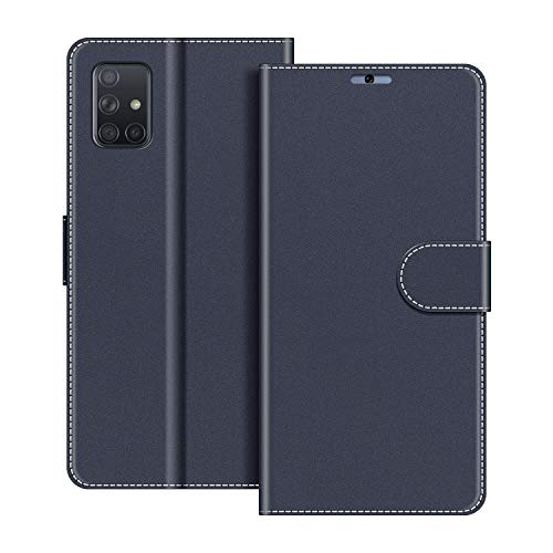 COODIO Funda Samsung Galaxy A51 con Tapa, Funda Movil Samsung A51, Funda Libro Galaxy A51 Carcasa Magnético Funda para Samsung Galaxy A51, Azul Oscuro
