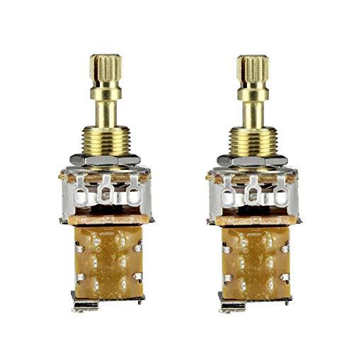 FLEOR Potenciómetro de empuje para guitarra A500K Pots Audio Taper Cobre Eje...