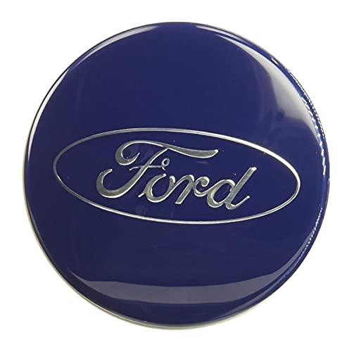 Conjunto de 4 piezas de la cubierta del centro del centro de la rueda del centro Etiqueta engomada del logotipo compatible con el logotipo FORD, la cubierta central del centro, la cubierta del centro
