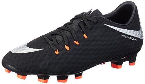 Nike Herren Hypervenom Phelon III FG Fußballschuhe, Schwarz (Black/Metallic Silver-Black-Anthracite), 41 EU