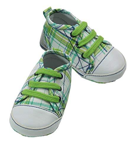 Mayoral Jungen Baby-Schuhe grün kariert, Gr. 16 (16)